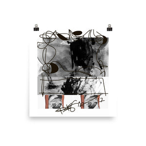 Instagram Post Abstraction in Black and White RegiaArt - Poster Art Print