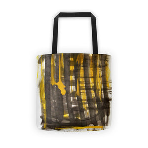 Splash Yellow Black RegiaArt Tote bag