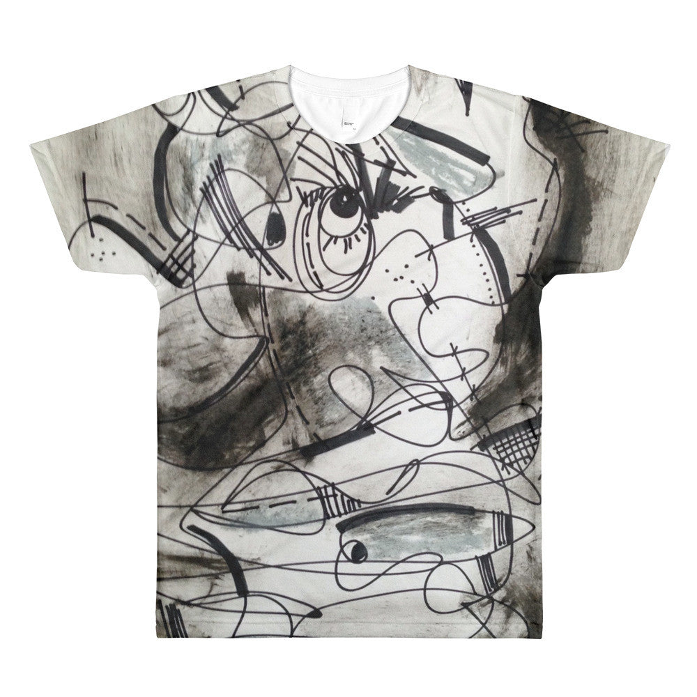 BW Eye on You RegiaArt Design - Sublimation men's crewneck t-shirt, polyester