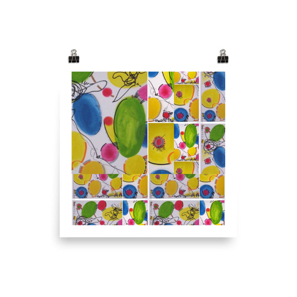 Colorful Abstract Art Print Poster - RegiaArt