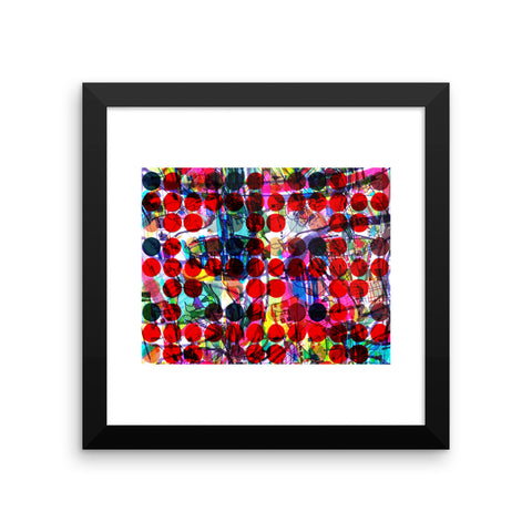 Abstract Red Dots Art - RegiaArt Framed poster, paper