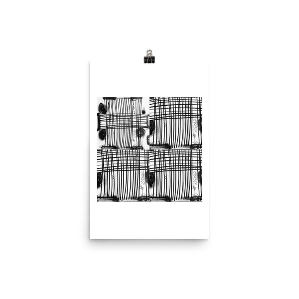 Instagram Post Abstract Black White Poster by RegiaArt