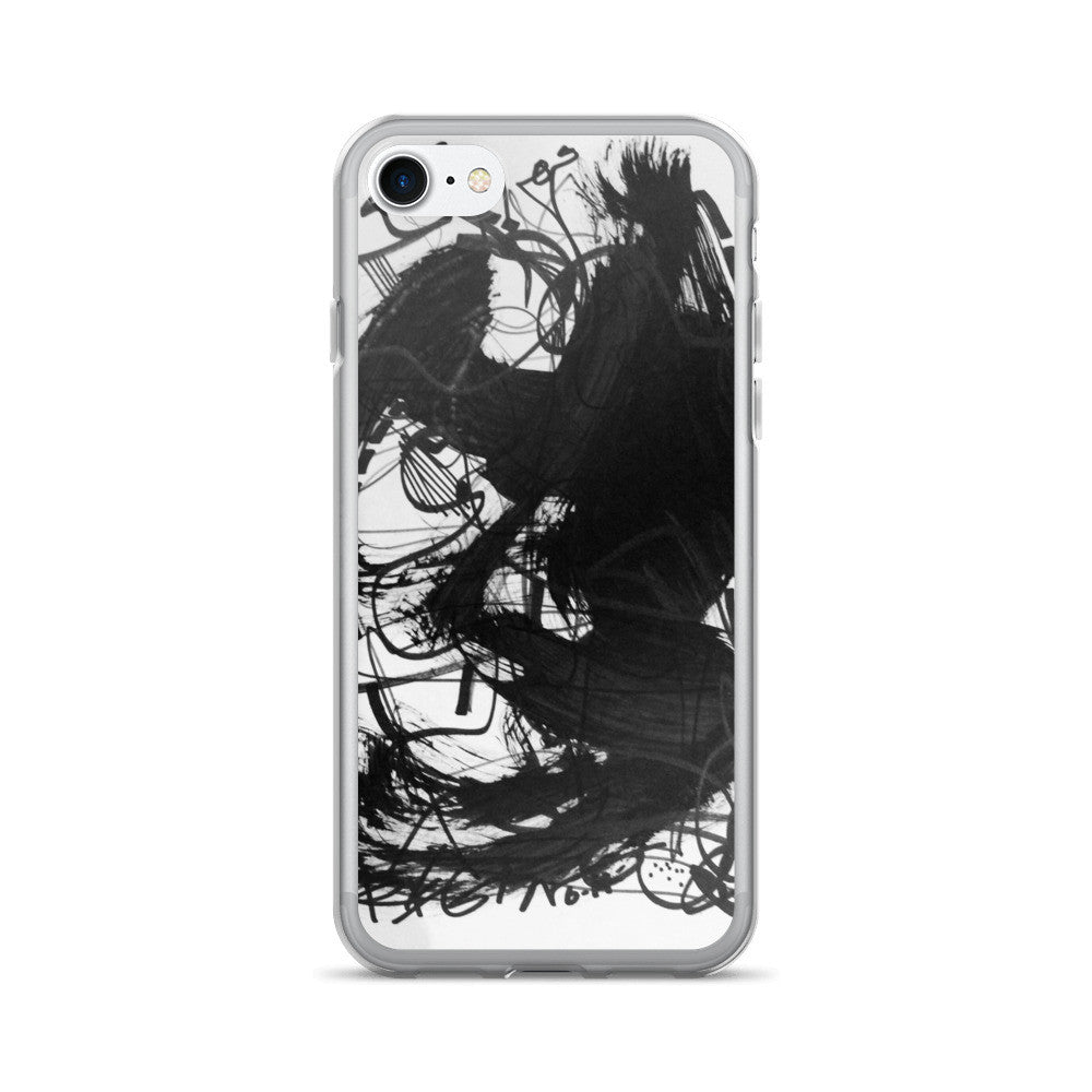 18 Black White Abstract Art - iPhone 7/7 Plus Case, acrylic