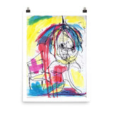 Raining Cats and Dogs, Colorful Art RegiaArt - Poster paper