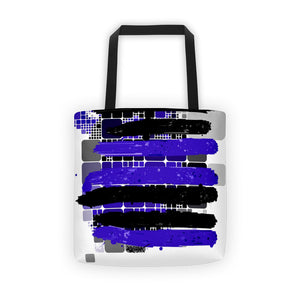 Black and Blue Stripes by RegiaArt  - Tote bag