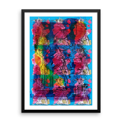 Abstract Nine RegiaArt - Colors Framed poster acid-free paper