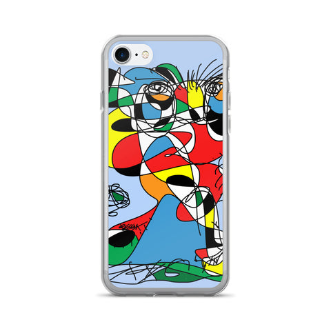 Colorful figure w flower RegiaArt - iPhone 7/7 Plus Case, acrylic