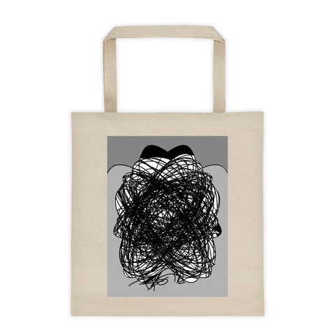 Black and Gray RegiaArt Design - Tote bag cotton canvas