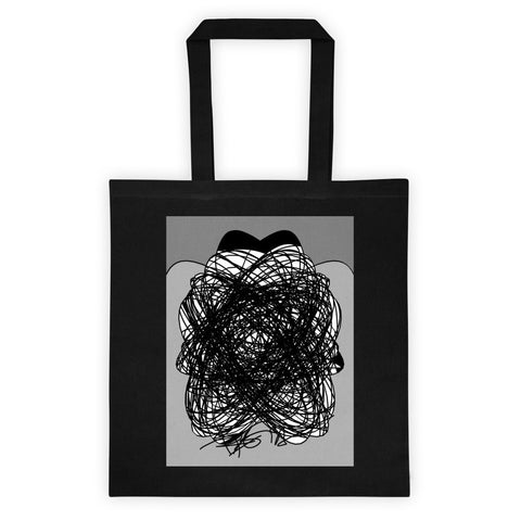 Black and Gray Abstract Art RegiaArt - Tote bag, cotton canvas
