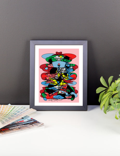 Abstraction RegiaArt - Framed poster colorful digital art