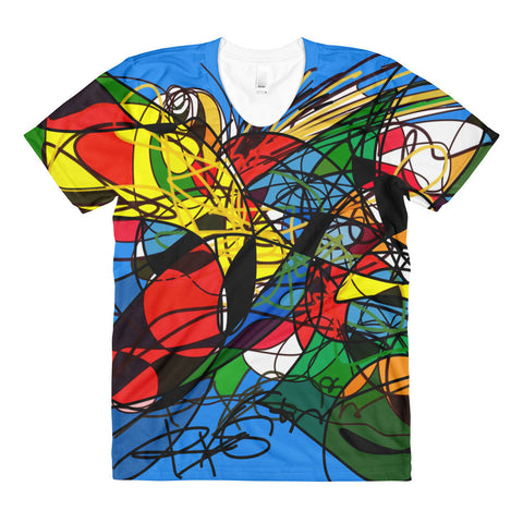 High Energy digital Art - RegiaArt Artist Sublimation women's crew neck t-shirt