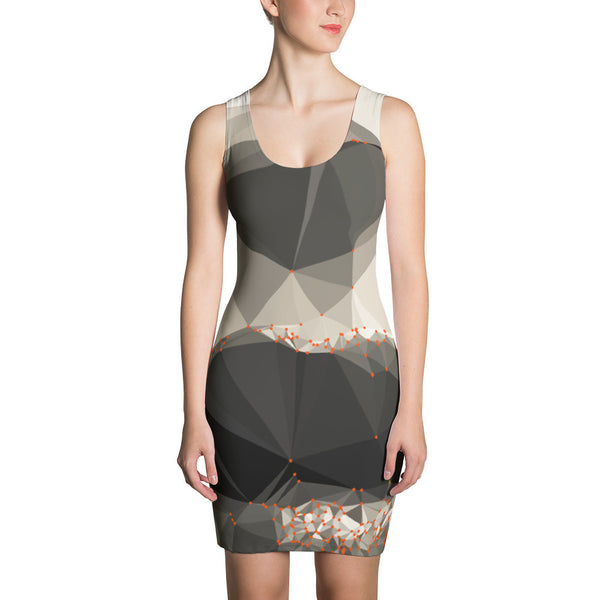 Smile Art Geometric RegiaArt - Sublimation Cut & Sew Dress