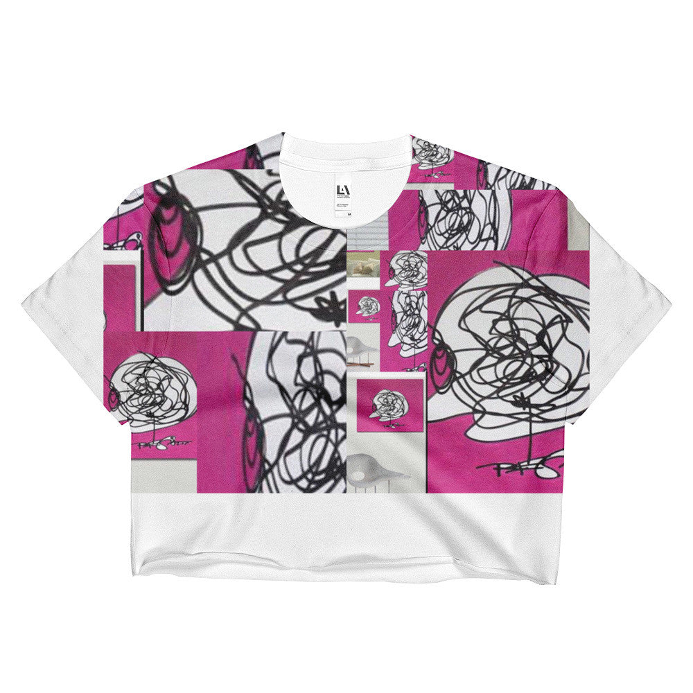 Pink Art Ladies Crop Top