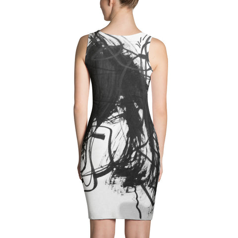 18 Black White Art - Sublimation Cut & Sew Dress, polyester, spandex