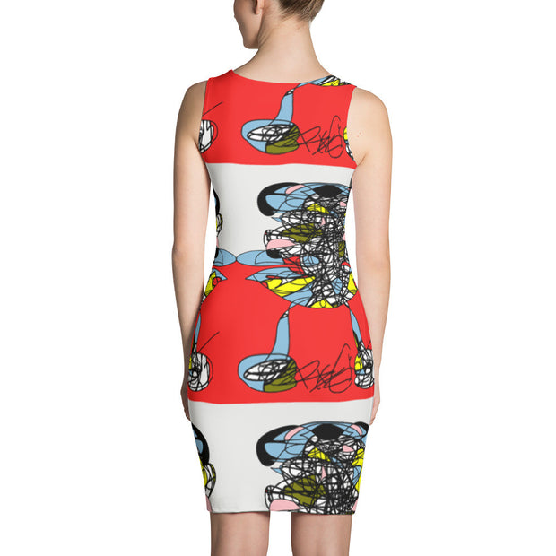 A Girl in the Red Sea  - Sublimation Cut & Sew Dress, polyester, spandex