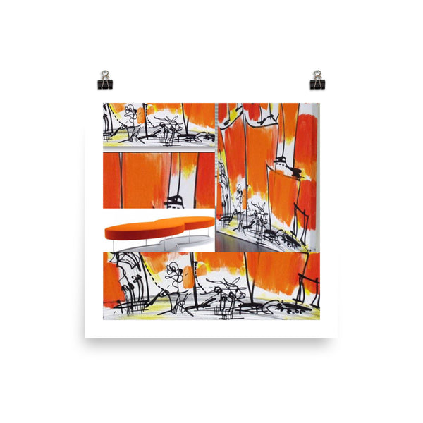 Instagram Orange Composition From a Painting by RegiaArt - Poster