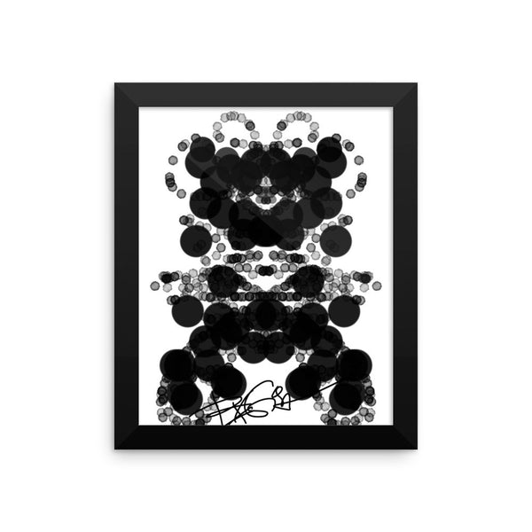 Black Dog Abstract Art, RegiaArt Framed poster acid-free paper