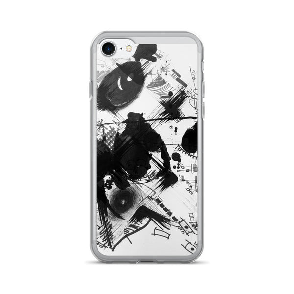 A Dramatic Black White Abstraction - iPhone 7/7 Plus Case, acrylic