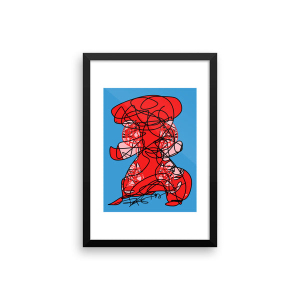 Lady in Red - Framed poster