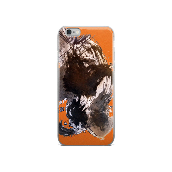 Black and Orange Design RegiaArt - iPhone 5/5s/Se, 6/6s, 6/6s Plus Case