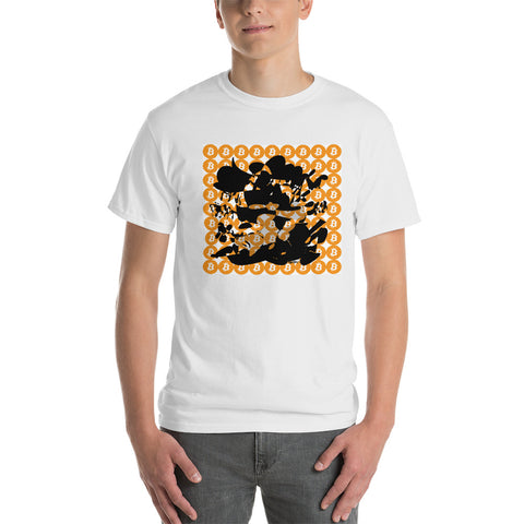 Bitcoin Crypto Orange Black Short-Sleeve T-Shirt