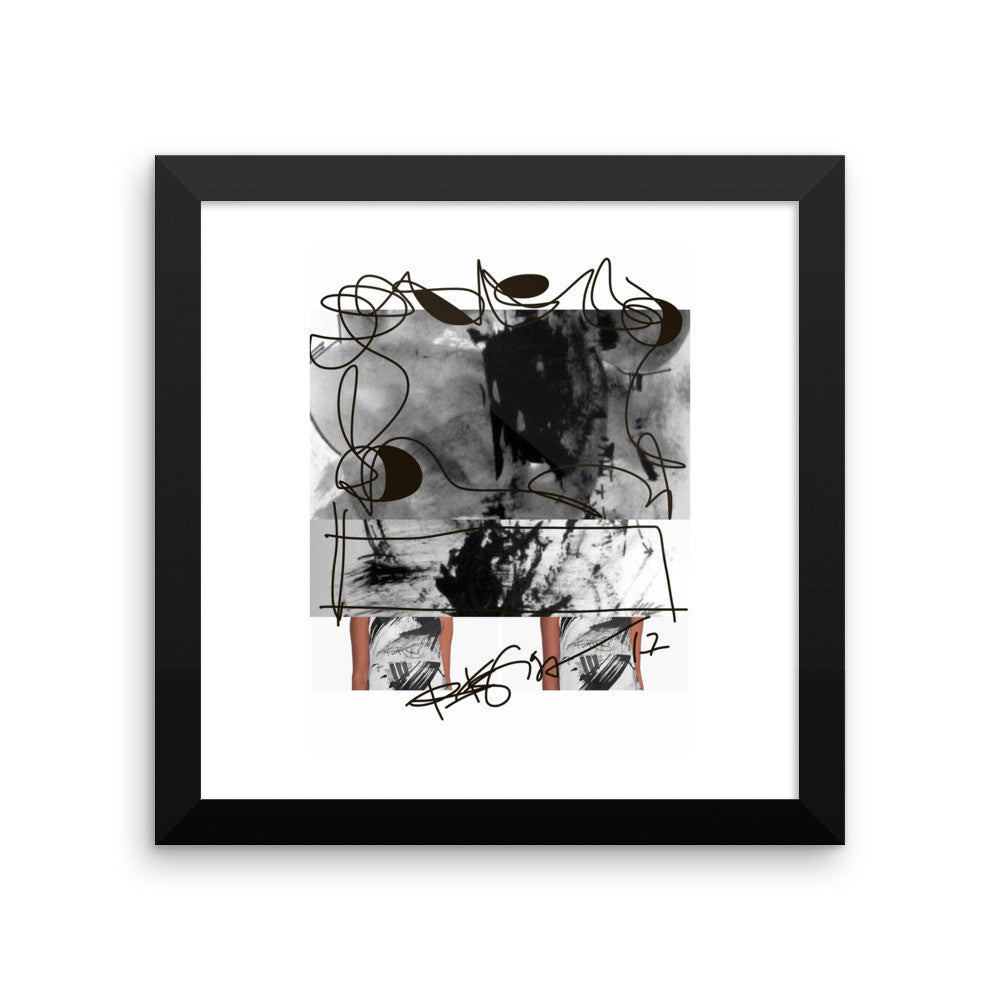 Instagram Post Abstraction in Black and White - Framed poster acid ...