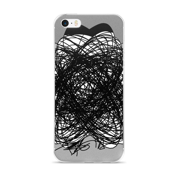 Black and Gray - iPhone 5/5s/Se, 6/6s, 6/6s Plus Case