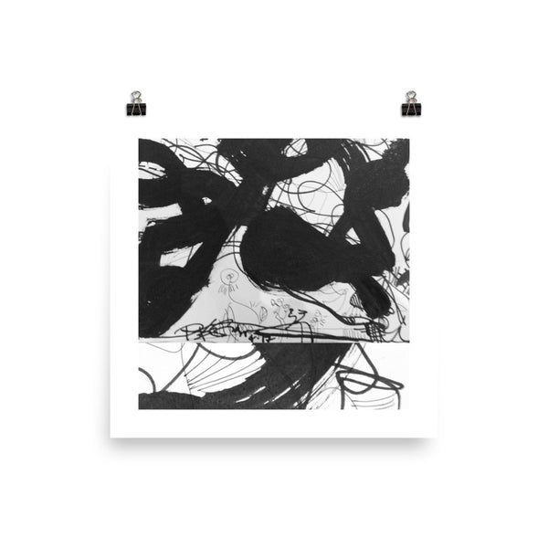 Instagram Post Black White Abstract RegiaArt Poster