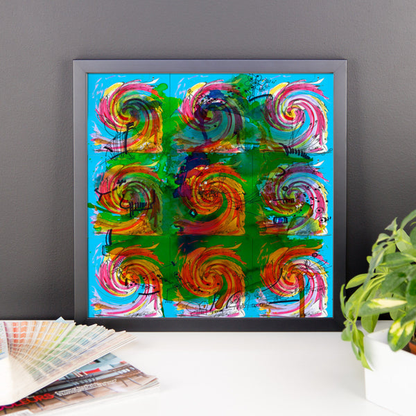 Blue Waves Abstract Art RegiaArt - Framed poster