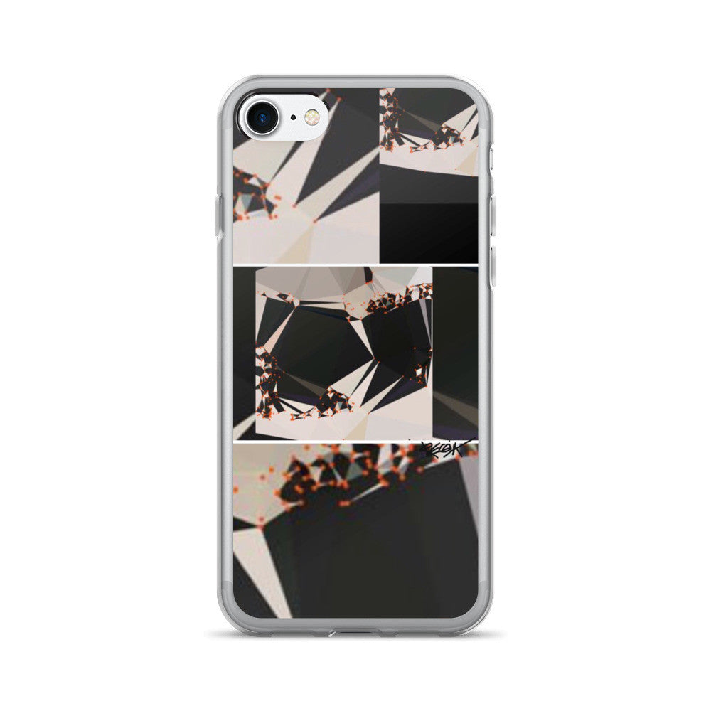 Abstract Black White Geometric RegiaArt - iPhone 7/7 Plus Case