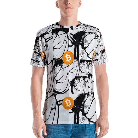 Bitcoin Digital Currency Art Men's T-shirt