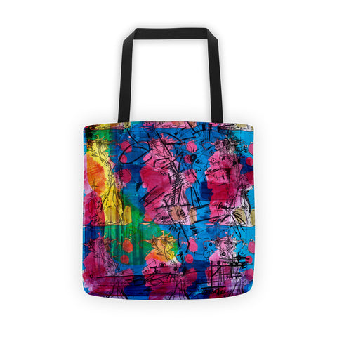 Abstract Nine Colorful RegiaArt  - Tote bag,