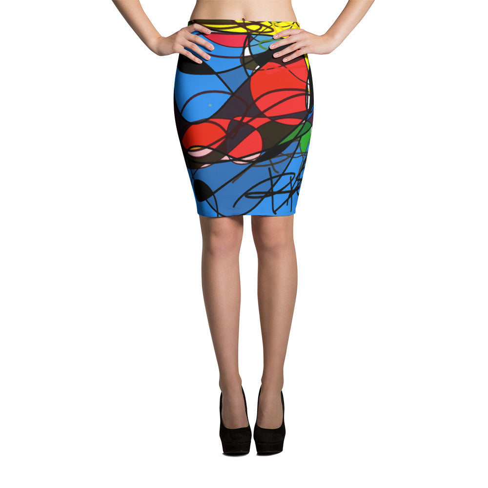 High Energy Digital Art RegiaArt - Pencil Skirt