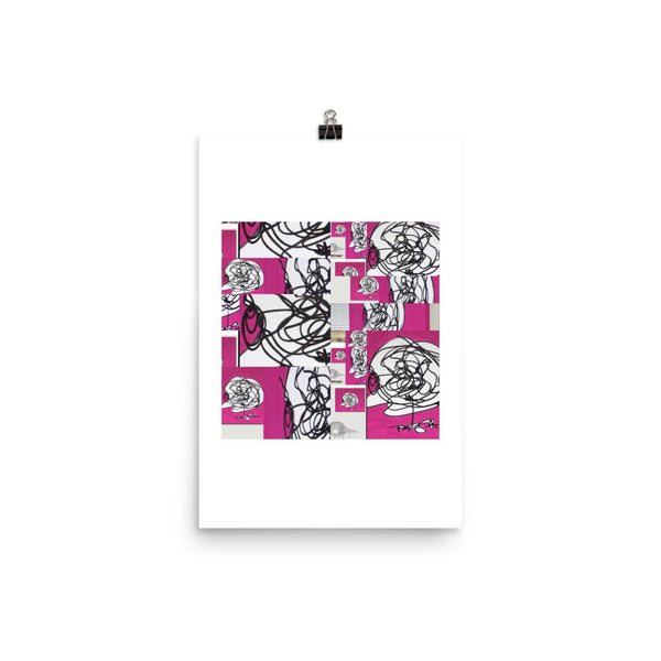 Instagram Eyes on Pink Abstract Composition RegiaArt Poster