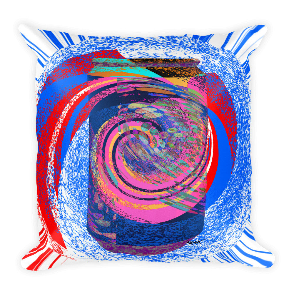 "Can of Soda Dream Design RegiaArt - Square Pillow, 18""x18"""