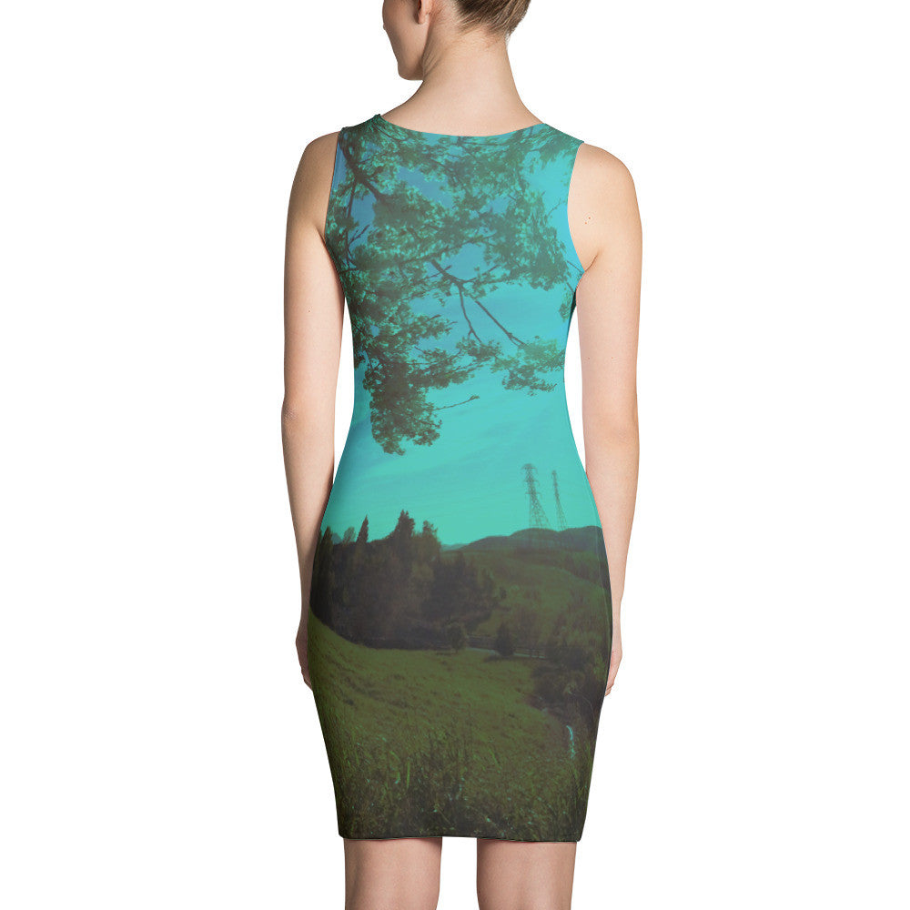 1 Wide Open View Green California Landscape RegiaArt - Sublimation Cut & Sew Dress