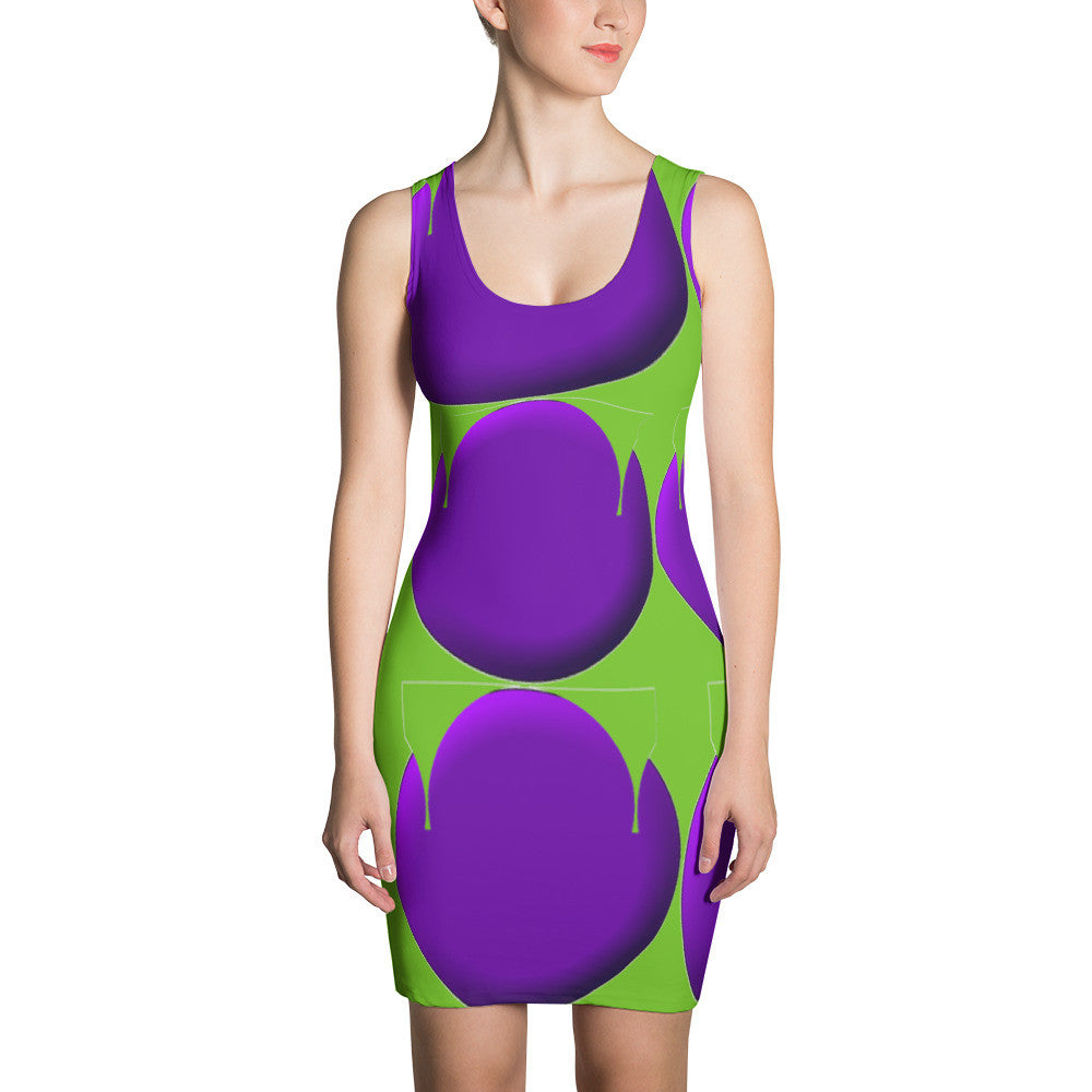 Purple Green Bold Design RegiaArt - Sublimation Cut & Sew Dress