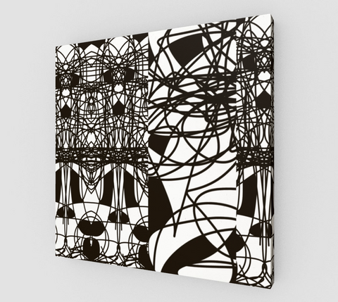 Black and White Lines Design RegiaArt - Canvas print