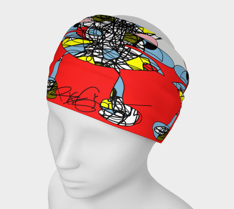 A Girl in the Red Sea - Head Band Abstract Colors