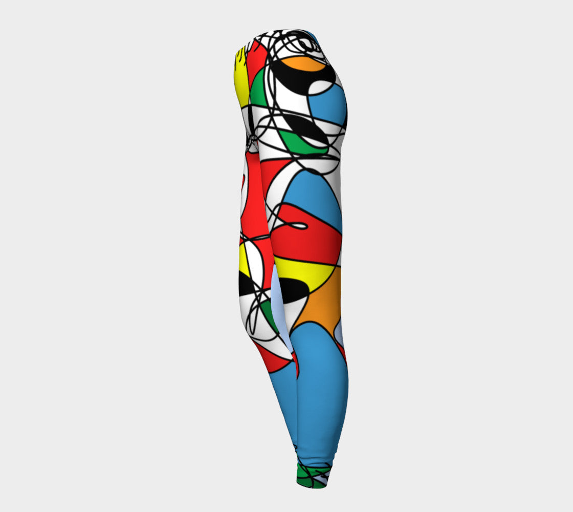 Happy Legging Colorful Design by RegiaArt