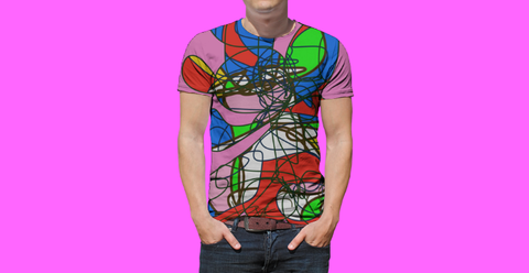 Tshirt Saturday Night Contemporary RegiaArt Design Sublimation men's crewneck t-shirt