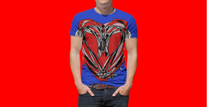 Red Heart Saturday Night RegiaArt Sublimation Men's Crewneck T-shirt