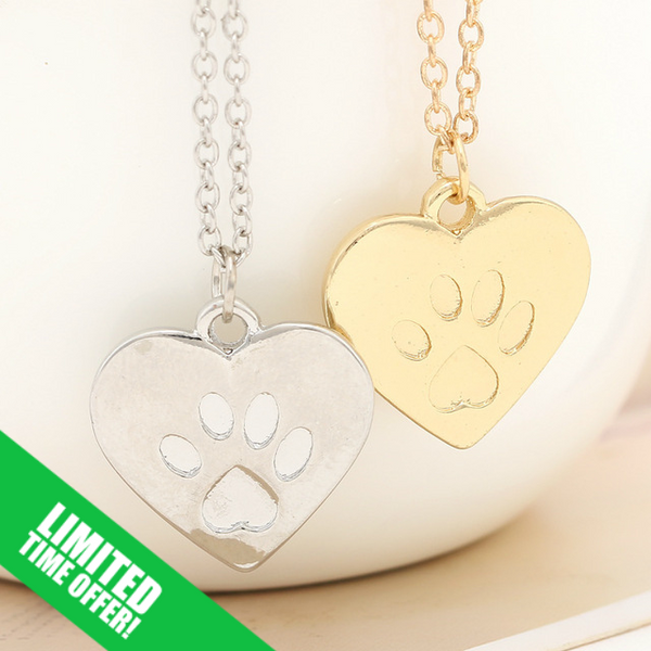Free Offer Paw Heart Necklace - The Gorillas Den