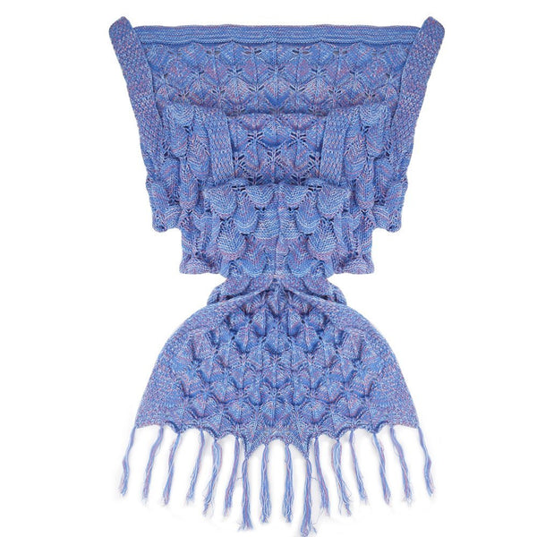 Purple/Blue Luxurious Mermaid Sleep Sack - Hand Knitted With Premium Soft Cotton W/SCALES and FRILLS - The Gorillas Den