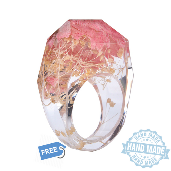 Frozen In Time Petal Ring - (PINK) Flower Power Collection - The Gorillas Den