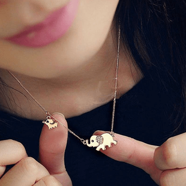 Follow the Leader Elephant Family Necklace - The Gorillas Den