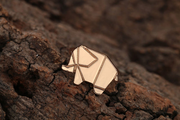 (SPECIAL ONE TIME OFFER) The Origami Elephant Ring-Silver and Gold Dipped - The Gorillas Den