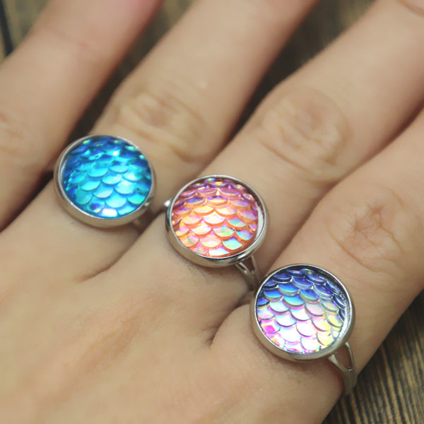(SPECIAL ONE TIME OFFER!) Mermaid Scale Rings - 8 Colors - The Gorillas Den