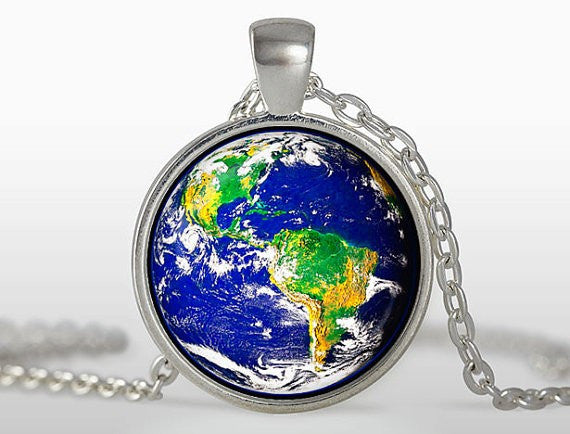 (BUY 1 GET 2 FREE) The World is Yours Round Glass Necklace - The Gorillas Den