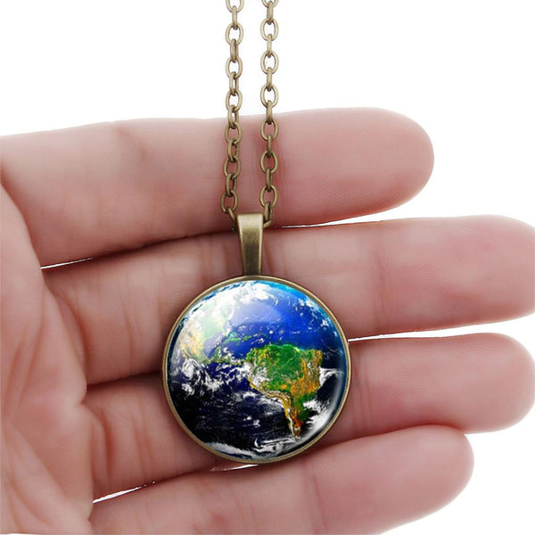 3d glass gem pendants the gorillas den special one time offer the world is yours round glass necklace the gorillas aloadofball Image collections